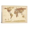 iCanvas 'Map of The World V' by Michael Tompsett Graphic Art on Canvas