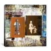 """iCanvas """"Man, Woman, Child"""" Painting Print on Canvas by Luz Graphics"""