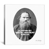 iCanvas Leo Tolstoy Quote Canvas Wall Art