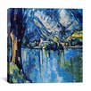 """iCanvas """"Le Lac Annecy"""" Canvas Wall Art by Paul Cezanne"""