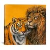 "iCanvas ""Lion and Tiger"" by Harro Maass Graphic Art on Canvas"