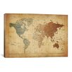 iCanvas 'Map of The World III' by Michael Tompsett Graphic Art on Canvas
