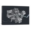 iCanvas 'London Text Map' by Michael Tompsett Textual Art on Canvas