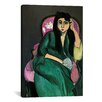 iCanvas 'Laurette in Green in a Pink Chair' by Henri Matisse Painting Print on Canvas