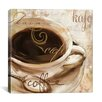 "iCanvas Color Bakery ""Le Cafe"" Painting Print on Canvas"