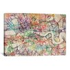 iCanvas 'London Map Watercolor' by Michael Tompsett Graphic Art on Canvas