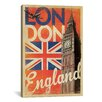 iCanvas 'London, England' by Anderson Design Group Vintage Advertisement on Canvas