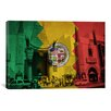 iCanvas Flags Los Angeles, California - Grauman's Chinese Theatre Grunge Graphic Art on Canvas