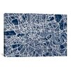 iCanvas 'London Map VI' by Michael Thompsett Graphic Art on Canvas