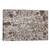 iCanvas 'London Map VII' by Michael Thompsett Graphic Art on Canvas