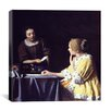 """iCanvas """"Lady Maidservant Holding Letter"""" Canvas Wall Art by Johannes Vermeer"""