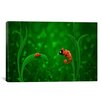 iCanvas Kids Children Lady Bug and Chameleon Canvas Wall Art