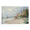 iCanvas 'La Plage a Trouville 1870' by Claude Monet Painting Print on Canvas