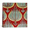 iCanvas Lampas Textile with Tulips Lamella Turkey Canvas Wall Art