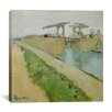 "iCanvas ""Langlois Bridge at Arles, 1888"" Canvas Wall Art by Vincent Van Gogh"