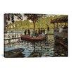 iCanvas 'La Grenouillere 1869' by Claude Monet Painting Print on Canvas