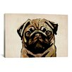 iCanvas 'Pug Dog' by Michael Tompsett Graphic Art on Canvas