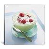 iCanvas Raspberry Yogurt Photographic Canvas Wall Art
