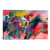 iCanvas 'Race 2' by Richard Wallich Painting Print on Canvas