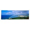 iCanvas Panoramic Rainbow Over A City, Waikiki, Honolulu, Oahu, Hawaii Photographic Print on Canvas