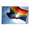 iCanvas LGBT Rainbow Flag Gay Pride Photographic Print on Canvas