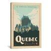 iCanvas 'Quebec, Canada' by Anderson Design Group Vintage Advertisement on Canvas