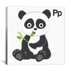 iCanvas Kids Art P is for Panda Painting Print Canvas Wall Art