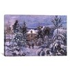 iCanvas 'Piettes House' by Camille Pissarro Painting Print on Canvas