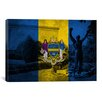 iCanvas Philadelphia Flag, Grunge Rocky Statue Graphic Art on Canvas