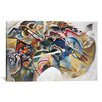 iCanvas 'Painting with White Border' by Wassily Kandinsky Painting Print on Canvas
