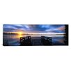 "iCanvas ""View of a Pier at Dusk, Vuoksi River, Imatra, Finland"" Photographic Print on Canvas"