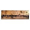 iCanvas Panoramic People Praying in Front of the Western Wall, Jerusalem, Israel Photographic Print on Canvas