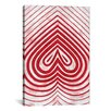 iCanvas Modern Art Red Spade Graphic Art on Canvas