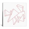 iCanvas Modern Art Stencil Triangles Graphic Art on Wrapped Canvas