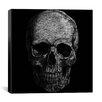 iCanvas Modern Art Skull Fibers Painting Print on Canvas