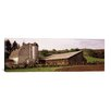 iCanvas Panoramic Old Barn with a Fence Made of Wheels, Palouse, Whitman County, Washington State Photographic Print on Canvas