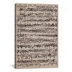 iCanvas Modern Sheet Music Ode to Joy Textual Art on Canvas
