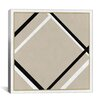iCanvas Modern Lozenge with Four Lines Graphic Art on Canvas