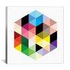 iCanvas Modern Cuboids llI Graphic Art on Wrapped Canvas