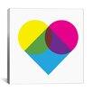 iCanvas Modern Art Fluorescent Heart Diagram Graphic Art on Canvas