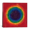iCanvas Modern Art cRainbow Tunnel (After Suggs) Modern Painting Print on Canvas