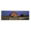 iCanvas Panoramic Old Barn with a Fence in a Field, Palouse, Washington State Photographic Print on Canvas