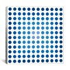 """iCanvas Modern """"Faded Navy Dots"""" Graphic Art on Canvas"""