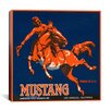 iCanvas Mustang Brand Fruit Vintage Crate Label Vintage Advertisement on Canvas