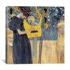 """iCanvas """"Musik 1895"""" Canvas Wall Art by Gustav Klimt"""