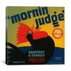 iCanvas Mornin Judge Grapefruit and Oranges Vintage Crate Label Canvas Wall Art