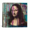 iCanvas 'Mona Lisa Dripping' by Luz Graphics Painting Print on Canvas