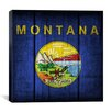 iCanvas Flags Montana Planks Graphic Art on Canvas
