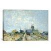 iCanvas 'Montmartre Molens en Moestuinen (Mills and Vegetable Gardens)' by Vincent van Gogh Painting Print on Canvas