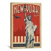 iCanvas 'New York City, New York' by Anderson Design Group Vintage Advertisement on Canvas